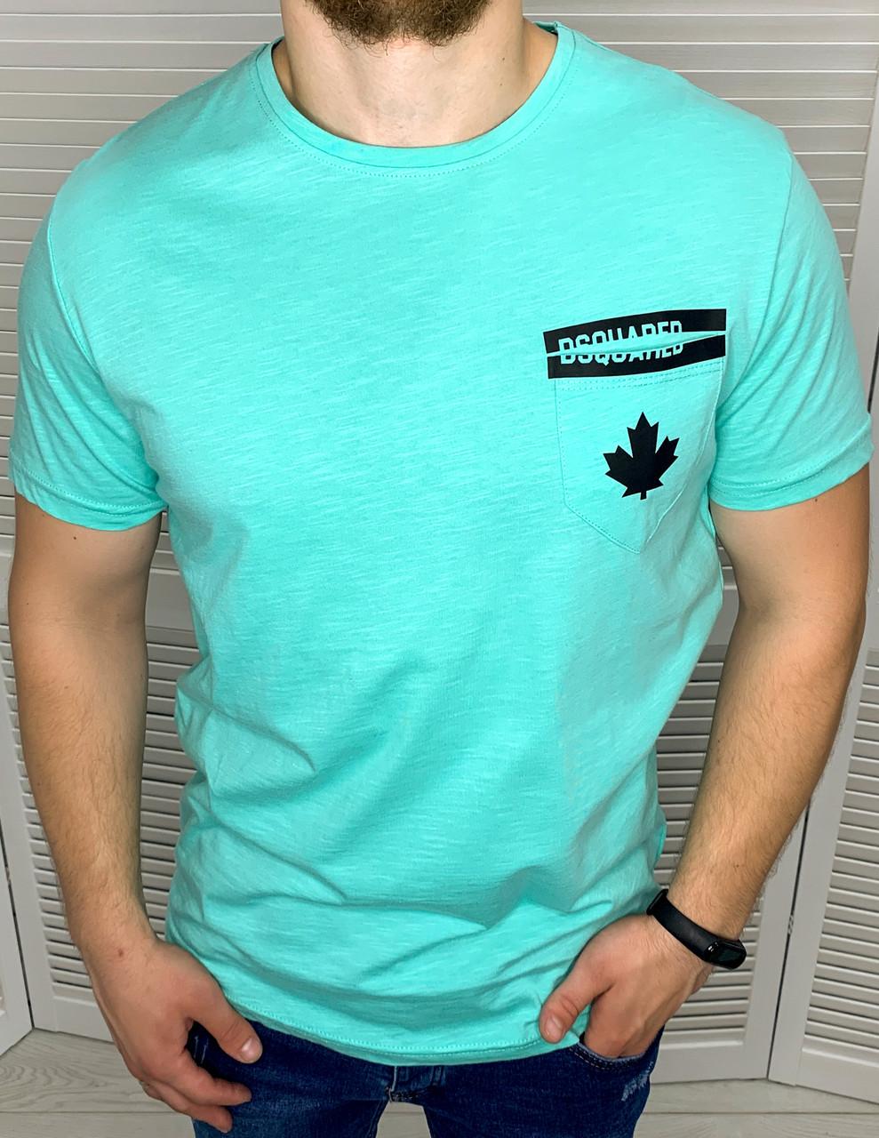 Мужская футболка Dsquared2 Яркая сильная летняя футболка