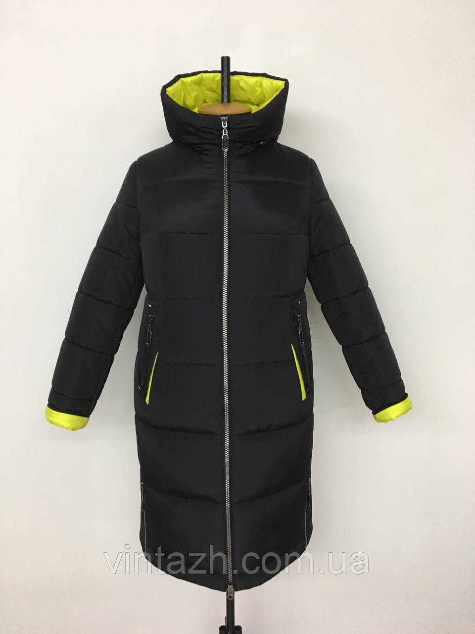 Стильне жіноче зимове пальто розміри 48-58