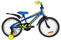 """Дитячий велосипед 18"""" Formula WILD 2021 (синій з жовтим)"""