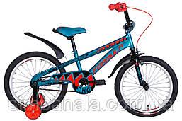 """Велосипед дитячий 18"""" Formula WILD 2021 (бірюзово-чорний з оранжевим)"""