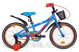 """Велосипед 18"""" Formula STORMER 2021 (синьо-помаранчевий )"""