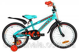 """Дитячий велосипед 18"""" Formula WILD (бірюзово-чорний з оранжевим)"""