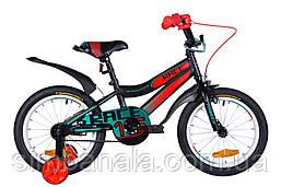 """Велосипед 16"""" Formula RACE 2021 (чорно-помаранчевий з бірюзовим (м))"""
