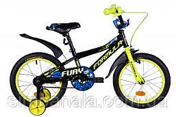 """Велосипед 16"""" Formula FURY 2021 (чорно-жовтий з синім)"""