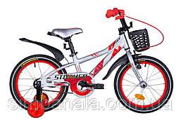 """Дитячий велосипед 16"""" Formula STORMER 2021 (сріблясто-червоний)"""