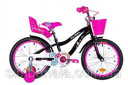Велосипед дитячий 18 дюймів Formula ALICIA 2021 (чорний з рожевим)