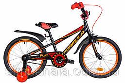 """Велосипед дитячий 18"""" Formula SPORT 2021 (чорно-червоний з жовтогарячим (м))"""
