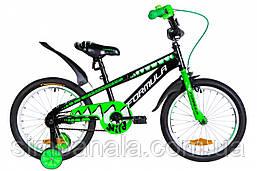 """Велосипед дитячий 18"""" Formula WILD 2021 (чорно-зелений з білим)"""