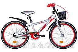 """Велосипед детский 18"""" Formula STORMER 2021(серебристо-красный)"""