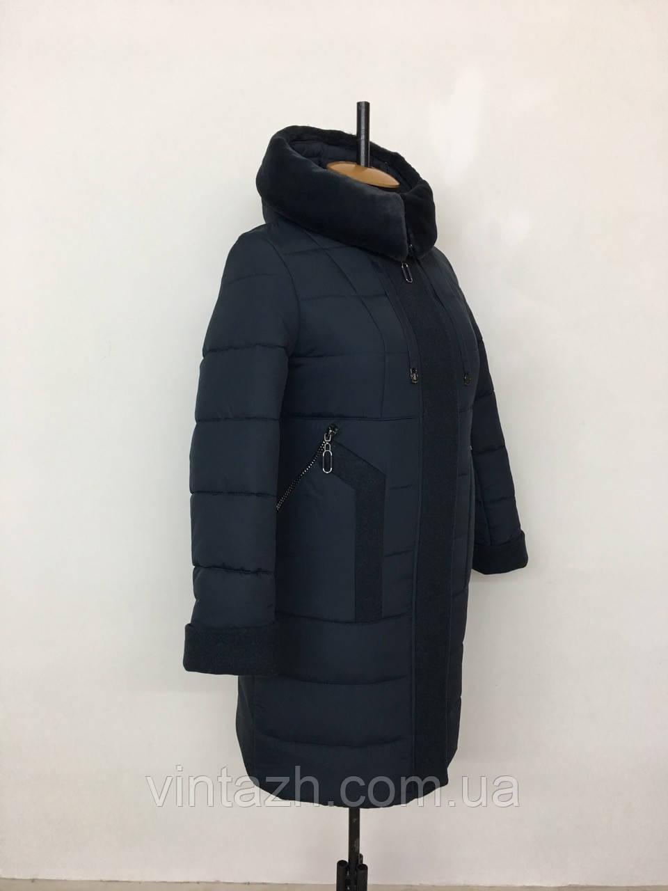 Модне жіноче зимове пальто розміри 50-60
