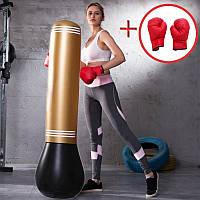 Комплект груша боксерская надувная + перчатки (ГБ-100-1+ПБ-1в)