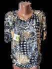 "Блуза футболка женская ""Эрика"" р.50-52 хлопок стрейч.От 3шт по 49грн, фото 2"