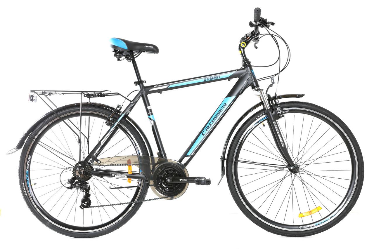 """Городской велосипед 28"""" Crosser GAMMA черно-синий"""