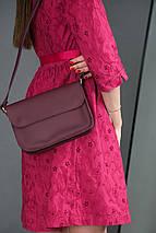 Женская кожаная сумка Берти, натуральная кожа Grand, цвет Бордо, фото 2
