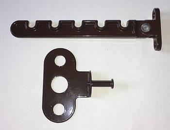 Гребенка ограничитель открывания створки металлопластикового окна под ручку коричневая металлическая