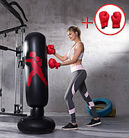 Комплект груша надувная боксерская + перчатки (ГБ-101+ПБ-1)