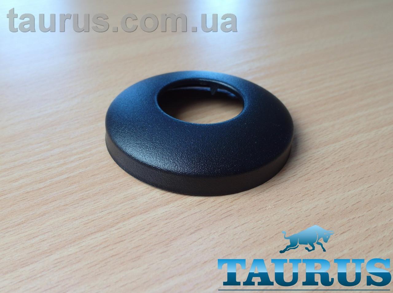 """Чёрный сферический декоративный фланец D76 / высота 17 мм Black, внутренний размер 1"""" (d33 мм) ThermoPulse"""