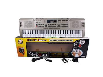 Синтезатор дитячий музичний центр з мікрофоном Іграшковий музичний центр Дитячий синтезатор з записом