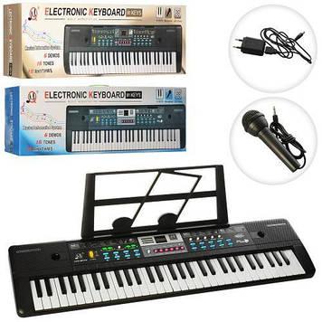 Синтезатор для дітей Дитяче піаніно з мікрофоном і регулюванням звуку Дитячий синтезатор працює від мережі