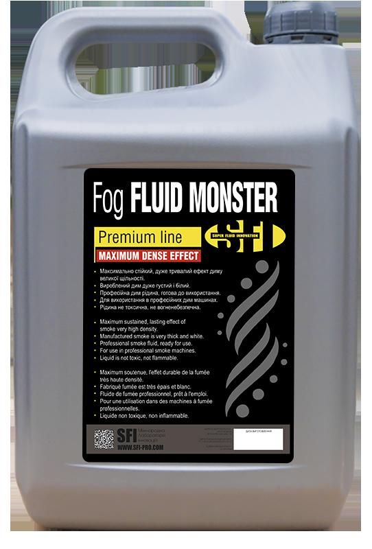 Жидкость для генератора дыма SFI Fog Monster Premium 5л.  Жидкость для дым машины специально для киноиндустрии