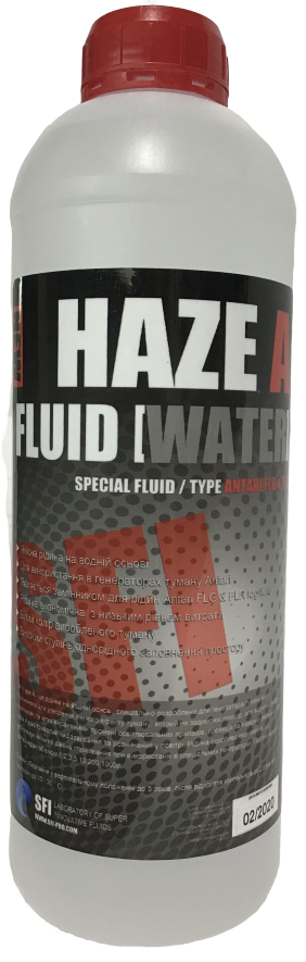 """Рідина для генератора диму Легкий дим SFI Haze """"A"""" Fluid Water 1л. Рідина для дим машини"""