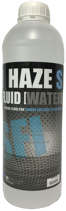 """Жидкость для генераторов тумана Smoke Factory TOUR-HAZER-FOG. Haze """"S"""" Fluid Water 1л. Жидкость для дым машины"""