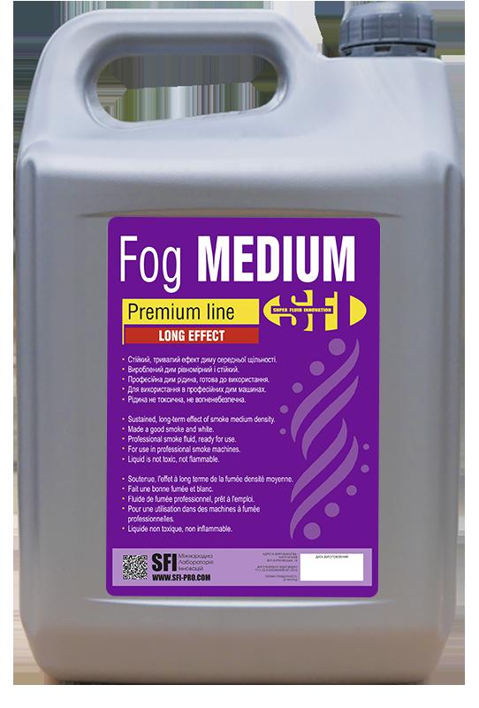 Жидкость для генератора дыма Средний дым SFI Medium Premium 5л. Жидкость для дым машины