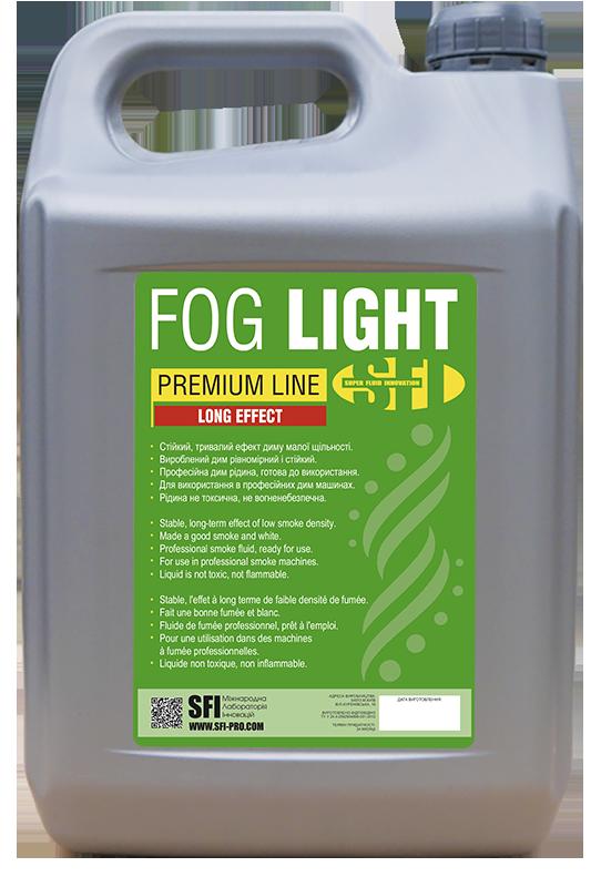 Жидкость для генератора дыма Легкий дым SFI Fog Eco Light 5л. Жидкость для дым машины