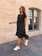 Женское платье ассиметричное длиною миди с коротким рукавом, фото 4