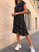 Женское платье ассиметричное длиною миди с коротким рукавом, фото 3