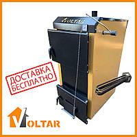 Пиролизный котел длительного горения VOLTAR Front S50 - 18 кВт с электрическим ТЕНом