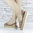 Босоніжки жіночі пудрові еко замша з відкритою п'ятою і відкритим носком (b-508), фото 6