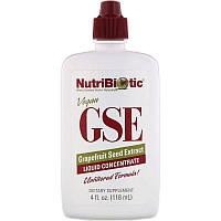NutriBiotic, веганский экстракт семян грейпфрута GSE, жидкий концентрат, 118 мл