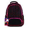 Рюкзак, 42*29*15см, чорний в рожевий горошок, М, California 980712