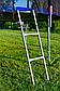 Батут Atleto 312 см с двойными ногами Сетка Лесенка СИНИЙ, фото 6