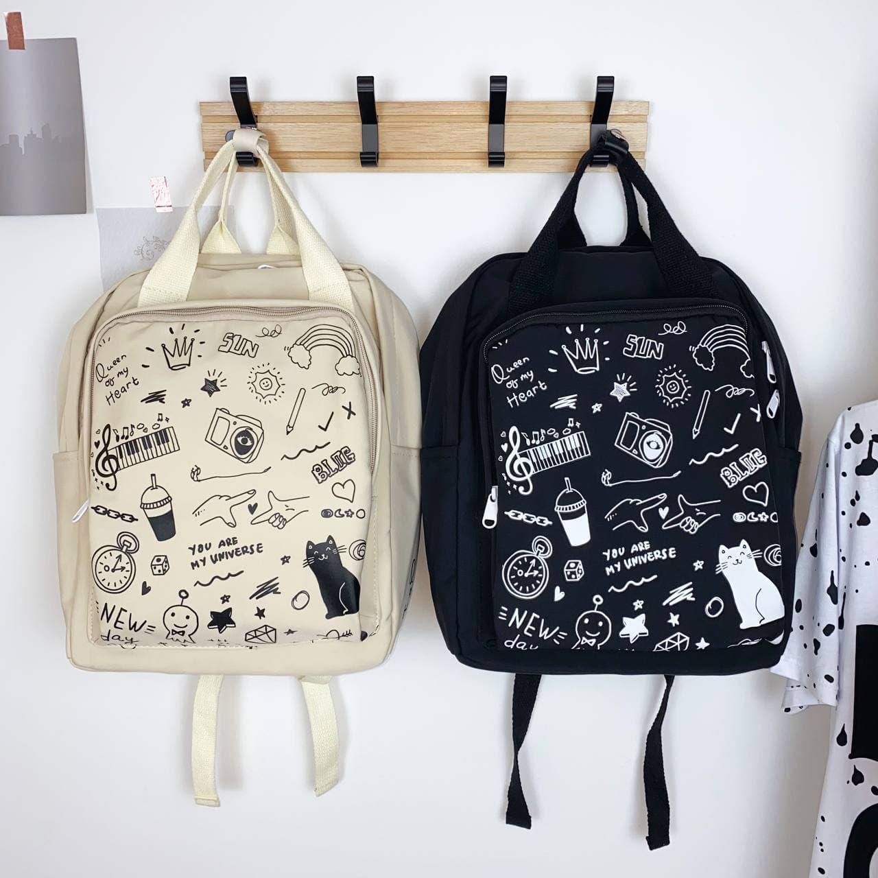 Молодежная сумка-рюкзак Граффити