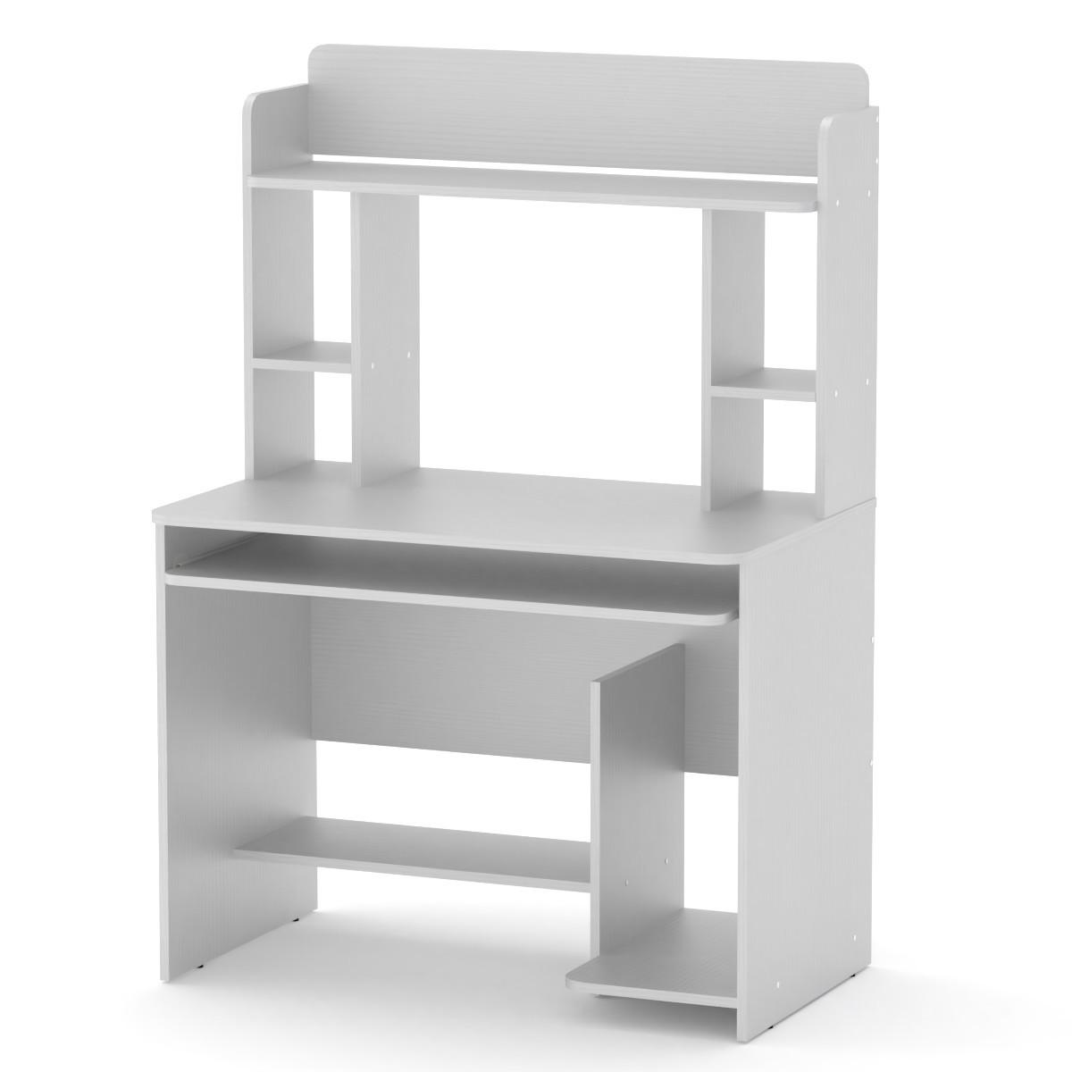 Стіл комп'ютерний СКМ-6 білий Компаніт
