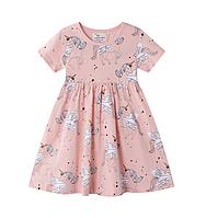 Детское платье Единорог 92, 98, 104, 110, 116, 122