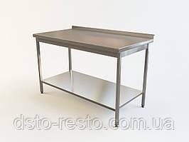 Производственный стол из нержавеющей стали с полкой из оцинковки 1500/600/850 мм