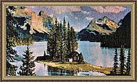Картина гобеленовая Северный уголок 48х35см (в раме) G349