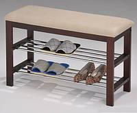 "Полка-скамейка для обуви ""W-09"" (коричневая)"
