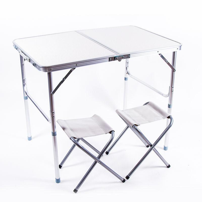 Стол складной 600x900 с 2 стульями
