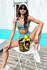 Модный раздельный трикотажный купальник с топом и высокой талией, фото 3