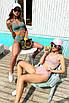 Модный раздельный трикотажный купальник с топом и высокой талией, фото 6