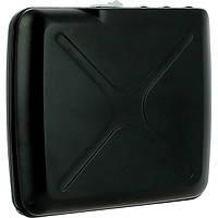 Бумажник OGON Mini Safe Alu с блокировкой, черный, фото 1