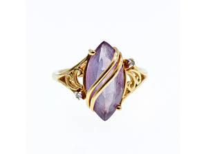 Золотое кольцо с турмалином и бриллиантами   Дизайн
