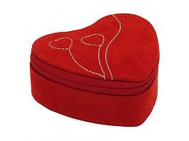 """Шкатулка для прикрас """"Серце"""", оксамит, 10см"""