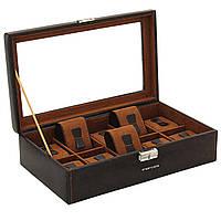 Шкатулка для хранения часов Friedrich Lederwaren Bond 10, коричневая