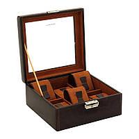 Шкатулка для зберігання годин Friedrich Lederwaren Bond 6, коричнева