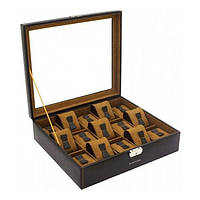 Шкатулка для хранения часов Friedrich Lederwaren Bond 15,  коричневая